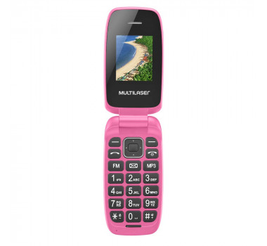 Celular Multilaser Flip Up Dual Chip MP3 Rosa - P9023