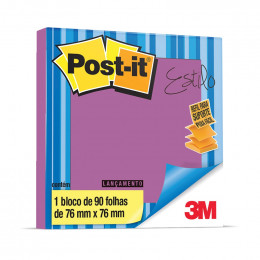 Bloco Adesivo Post-it 3M POP-UP 76x76mm Roxo