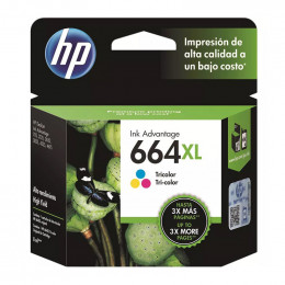 Cartucho Hp F6v30-Ab 664xl Color 8ml