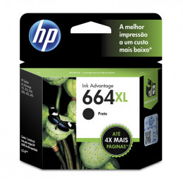 Cartucho Hp F6v31-Ab 664xl Preto 8,5ml