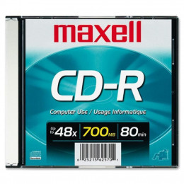 CD-R 80 Minutos Gravável Slim Maxell