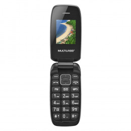 Celular Multilaser Flip Up Dual Chip MP3 Preto - P9022