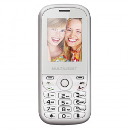 Celular Multilaser Up Dual Chip com Câmera Branco/Rosa Bluetooth MP3 Wap - P3293