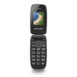 Celular Multilaser Flip Up Dual Chip MP3 Dourado - P9044