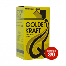 Clips 3/0 Galvanizado Golden Kraft CX C/500g