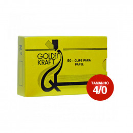 Clips 4/0 Galvanizado Golden Kraft CX C/50 UN