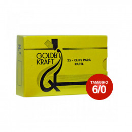 Clips 6/0 Galvanizado Golden Kraft CX C/25 UN