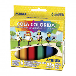 Cola Colorida 6 Cores Acrilex