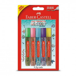 Cola Glitter 5 Cores Faber Castell