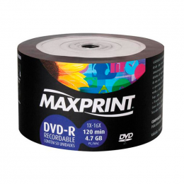 DVD-R Gravável 4.7GB Maxprint Bulk C/50 UN