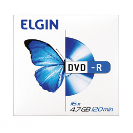 DVD-R Gravável 4.7GB 120min 16x Envelope Elgin