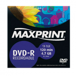 DVD-R Gravável 4.7GB Envelope Maxprint