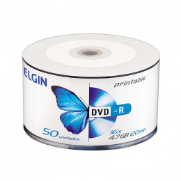 DVD-R Gravável Printable 4.7GB Elgin Bulk C/50 UN