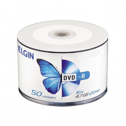 DVD-R Gravável 4.7GB Elgin Bulk C/50 UN