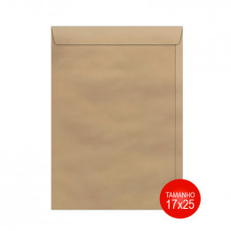 Envelope Kraft 17x25 SKN025 Scrity PCT C/50 UN