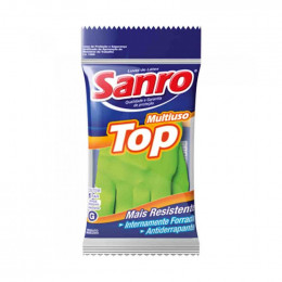 Luva de Latex Sanro Top Verde G
