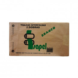 Papel Interfolha 2D BCO C/1000 ISAPEL 20X21