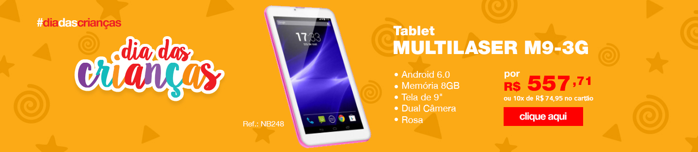 Tablet Multilaser M9-3G Rosa